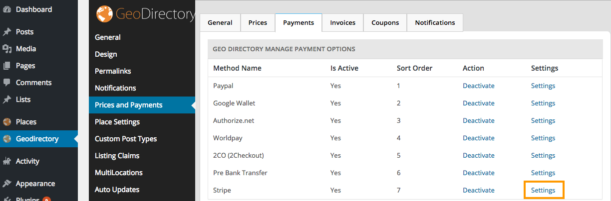 Stripe Payment Gateway Add-on Overview [deprecated] - GeoDirectory
