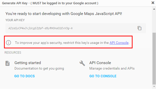 Add Google Api Key Geodirectory Documentation